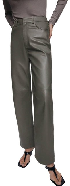 Item - Tan Limited Edition Genuine Leather Large Gray Pants Size 12 (L, 32, 33)