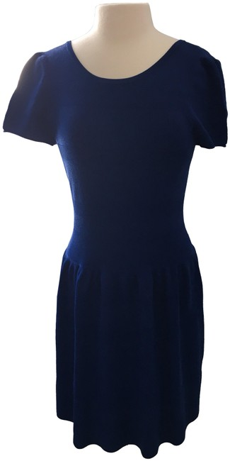 Item - Royal Blue Knit Short Casual Dress Size 4 (S)