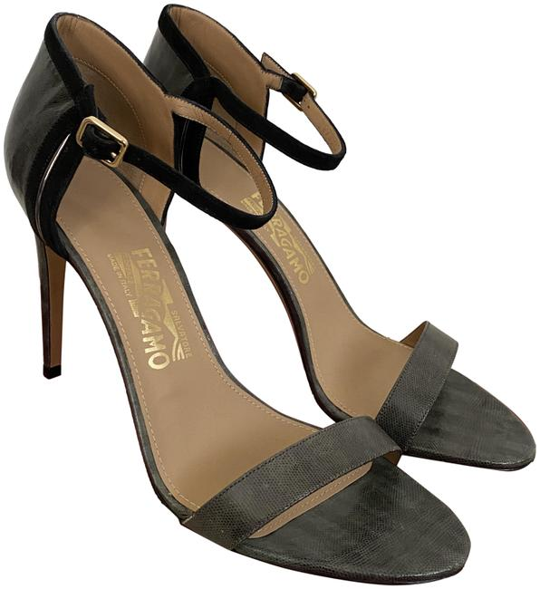Item - Gray Glad Lizard Embossed Strappy Sandals Pumps Size US 9.5 Regular (M, B)