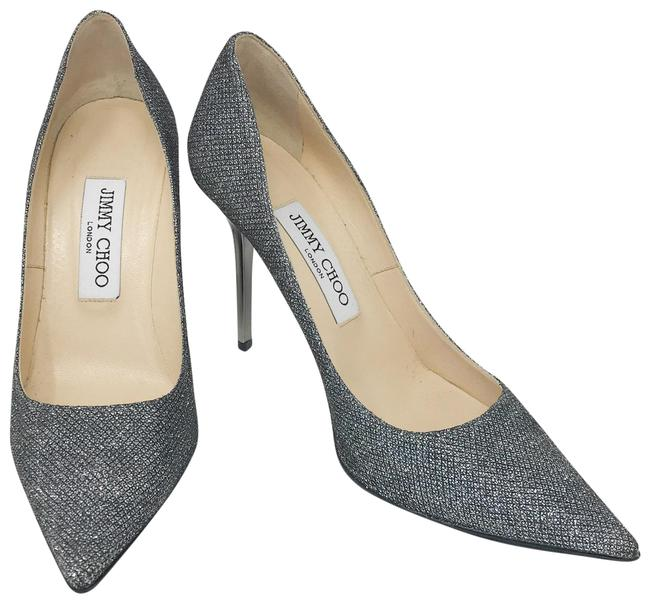 Item - Dark Silver Classic Glitter Romy 100 Heel Pumps Size EU 36.5 (Approx. US 6.5) Regular (M, B)