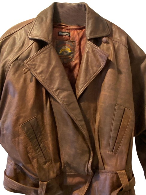 Item - Brown Vintage Thinsulate Aviator Jacket Size 12 (L)