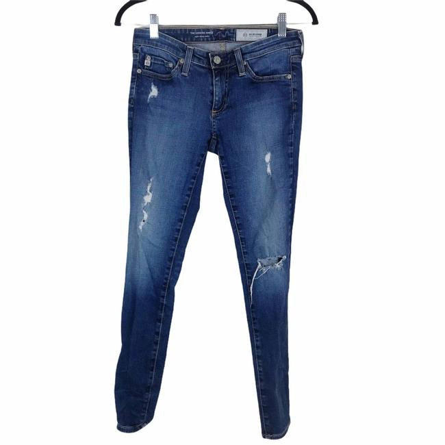 Item - Blue Distressed The Legging Super Ankle Skinny Jeans Size 25 (2, XS)