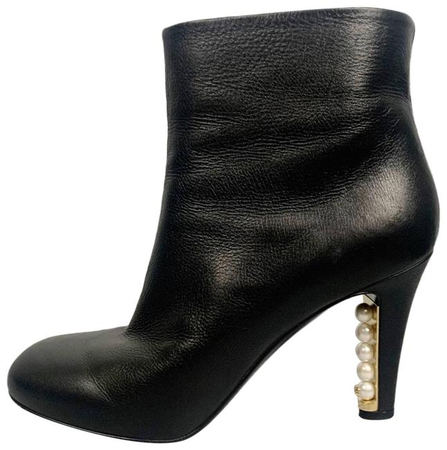Item - Black 13a Pearl Embellished Heel Ankle Boots/Booties Size EU 36.5 (Approx. US 6.5) Narrow (Aa, N)