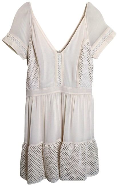 Item - Cream Heritage Collection Cutouts Mid-length Short Casual Dress Size 10 (M)
