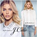 J.Crew White Collection Jeweled Collar Button-down Top Size 4 (S) J.Crew White Collection Jeweled Collar Button-down Top Size 4 (S) Image 2
