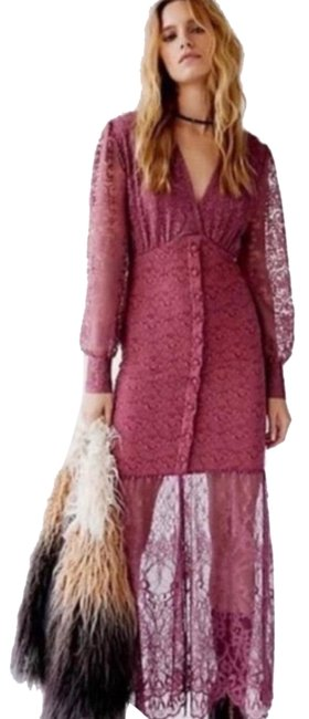 Item - Plum Siena Clothing X Free People Lace Gown Long Casual Maxi Dress Size 2 (XS)