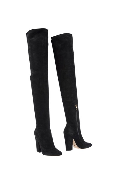 Item - Black Over The Knee Boots/Booties Size US 6 Regular (M, B)