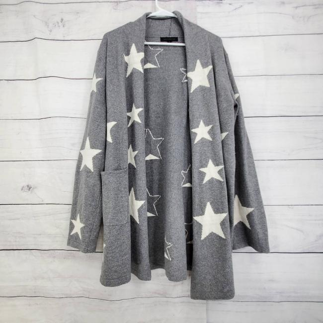 Item - Oversize Open Front Gray Sweater