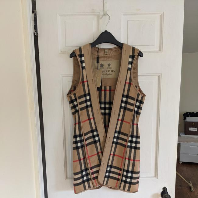 Item - Check Cashmere Wool Warmer Vest Size 6 (S)