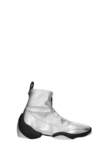 Item - Silver Ankle Light Jump Women Boots/Booties Size EU 37 (Approx. US 7) Regular (M, B)