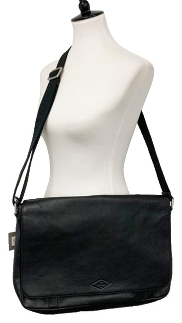 Item - Work Laptop Black Leather Messenger Bag
