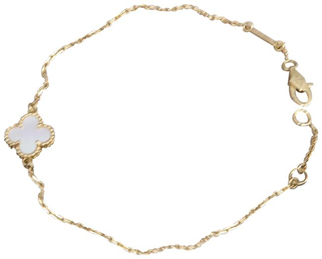Item - Yellow Gold Mother Of Pearl Sweet Alhambra Bracelet