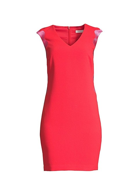 Item - Red Pink 191855414491 Mid-length Work/Office Dress Size 6 (S)