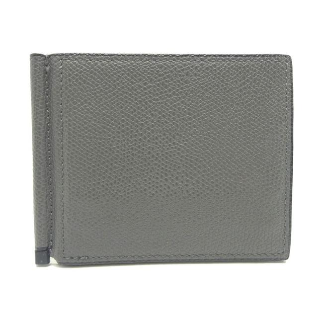 Item - Gray Money Clip Men's Grain Calf Leather Wallet