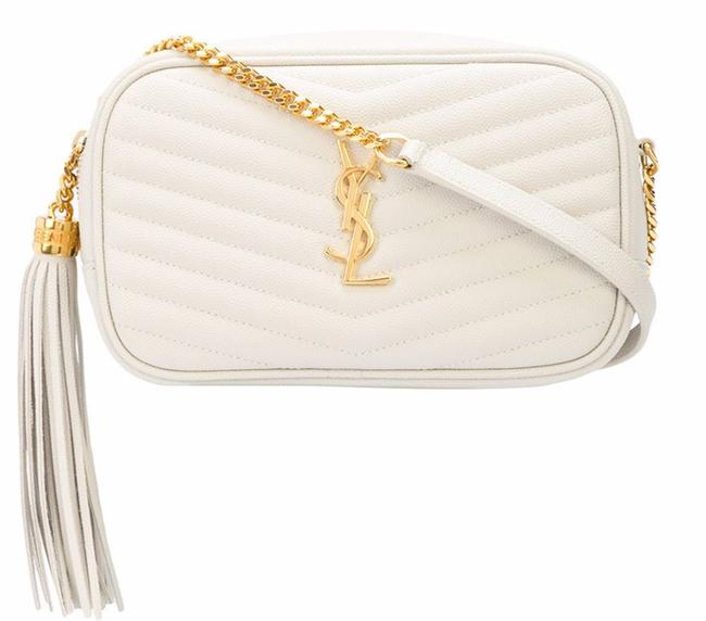 Item - Lou New Ysl Quilted Tassle Mini Purse Cream Off White Leather Cross Body Bag