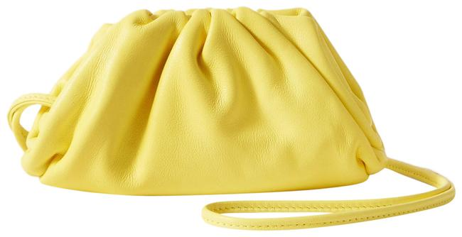 Item - Clutch The Pouch Mini Coin Purse Yellow Leather Wristlet