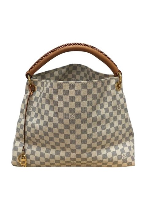 Item - Artsy Damier Azur Gm with Dust Fantastic Condition White Canvas Hobo Bag