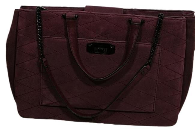 Item - Je T'aime Quilted Work Purple Suede Leather Tote
