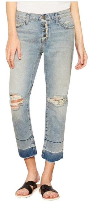 Item - Blue Medium Wash The Fling with Exposed Capri/Cropped Jeans Size 25 (2, XS)