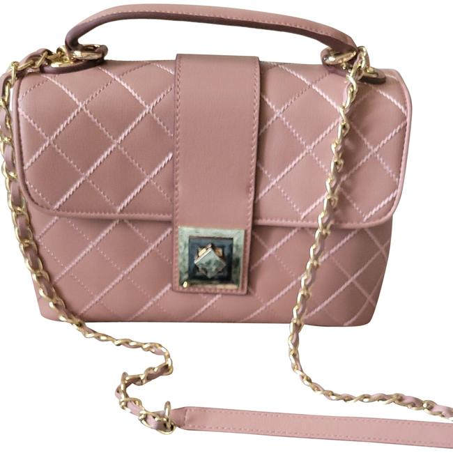 Item - Shoulder Tophandle Quilted Light Blush Pink Leather Cross Body Bag