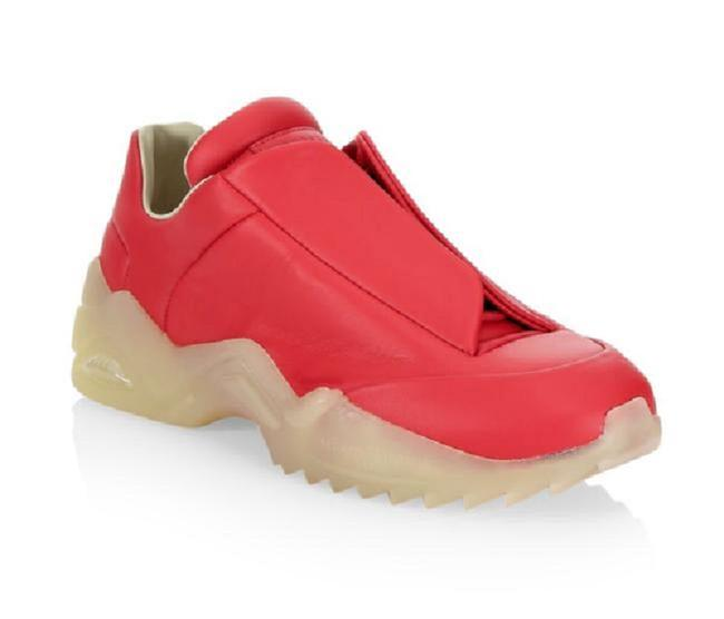 Item - Red New Future Leather Low Top Sneakers Size US 12 Regular (M, B)
