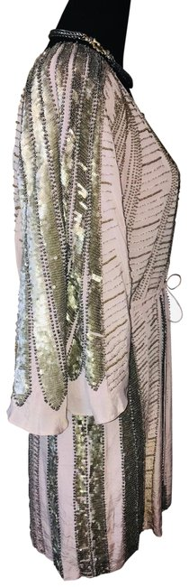 Item - Lilac Limited Edition Silver Sequin Mid-length Formal Dress Size 2 (XS)