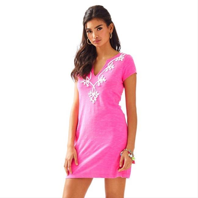 Item - Pink Hot Brewster T-shirt Short Casual Dress Size 2 (XS)