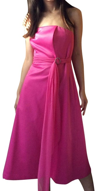 Item - Pink Strapless Belted In Pink.-n2. Formal Dress Size 4 (S)