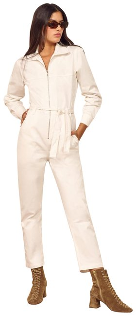 Item - White Ricky Romper/Jumpsuit
