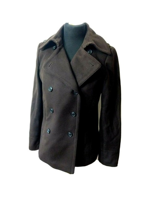 Item - Brown Double Breasted Tm Tall Medium Wool Traditional Classic Coat Size 8 (M)