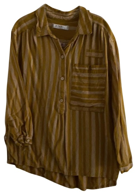 Item - Mustard We The Button-down Top Size 16 (XL, Plus 0x)