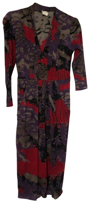 Item - Red 20135 Mid-length Work/Office Dress Size 4 (S)