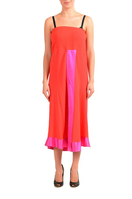 Item - Multi-color Women's Silk Flare Mid-length Short Casual Dress Size 4 (S)