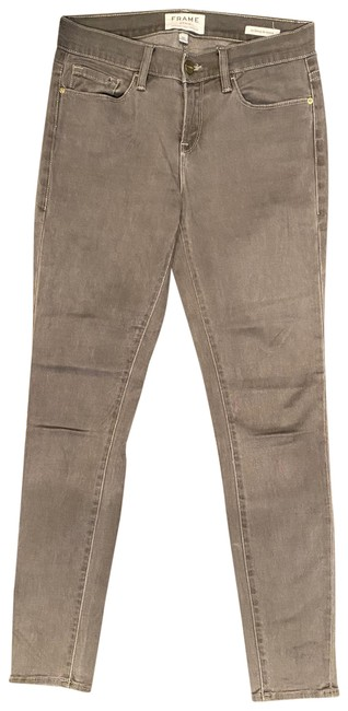 Item - Grey Medium Wash Le De Jeanne Skinny Jeans Size 2 (XS, 26)