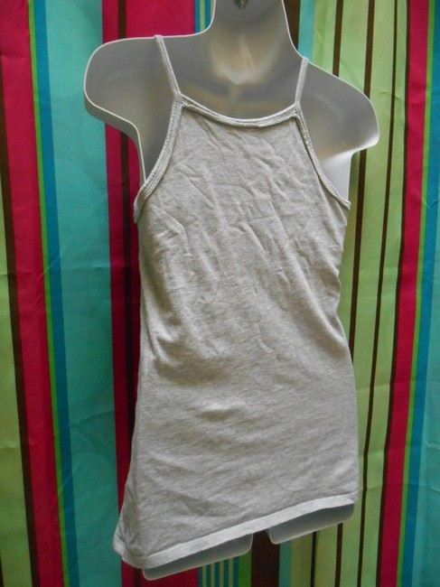 Ivy & Moon Nordstrom Girls Juniors Xl 16 Extra Small Womens Embellished Artsy Coachella Art Summer Shirt Spaghetti Straps Cotton Top Gray with Multi Color Image 6