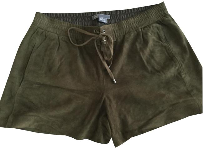 Item - Militar Green Leather Collection Shorts Size 8 (M, 29, 30)
