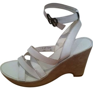 Coach Wedges White Sandals
