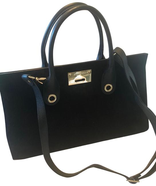 Item - Riley Black Suede Leather Tote