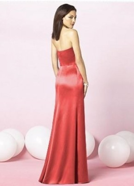 After Six Strapless Full Length Satin Dress