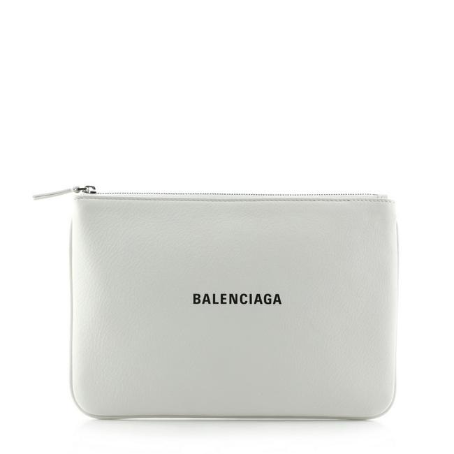 Item - Everyday Logo Pouch Printed Medium White Leather Clutch