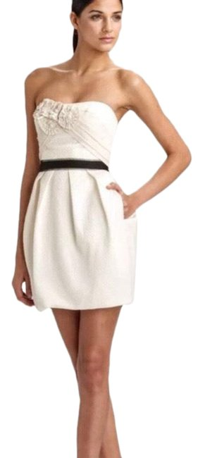 Item - Cream Bcbg White Strapless Mini Rosettes 0 Short Night Out Dress Size 0 (XS)