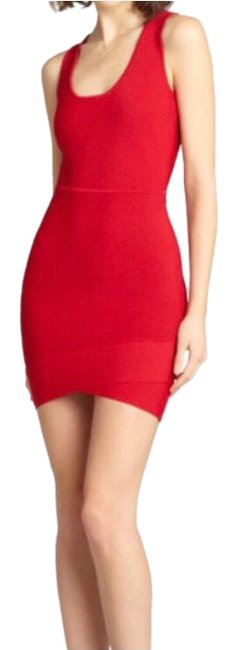 Item - Red Bcbg Gisela Rio Bandage Mini Xxs Short Night Out Dress Size 00 (XXS)