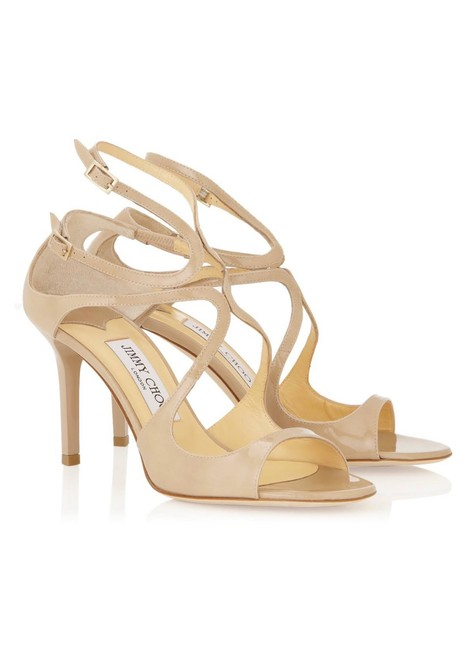 Item - Nude Ivette Patent Leather Strappy Sandals Formal Shoes Size EU 39 (Approx. US 9) Regular (M, B)