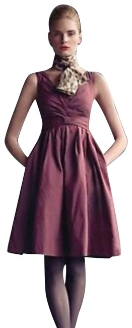 Item - Red Mad 2p Burgundy Sleeveless New Mid-length Cocktail Dress Size Petite 2 (XS)