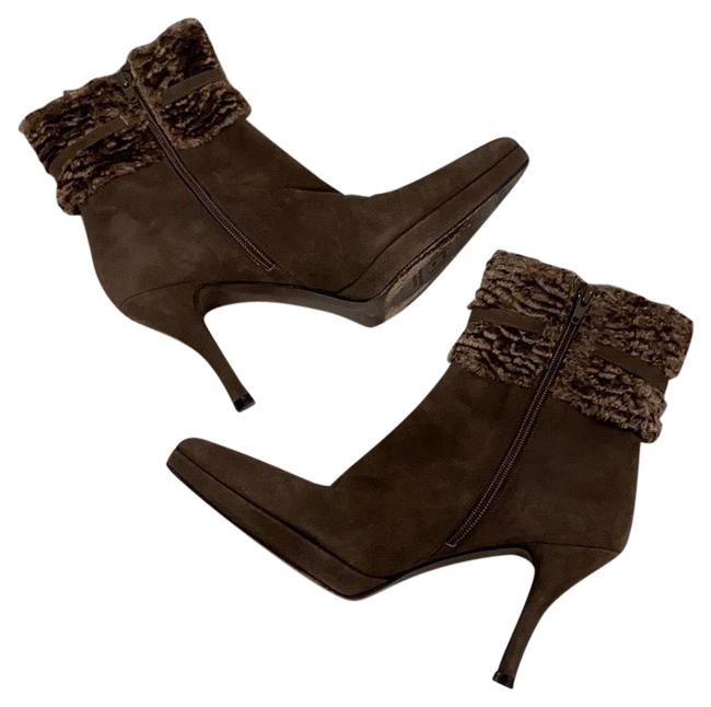 Item - Taupe Suede Fur Cuffed Platform Boots/Booties Size US 8 Regular (M, B)