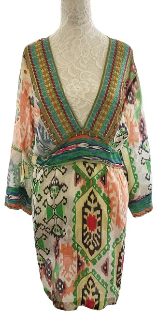Item - Multicolor Silk Floral 3x Tunic Size 26 (Plus 3x)