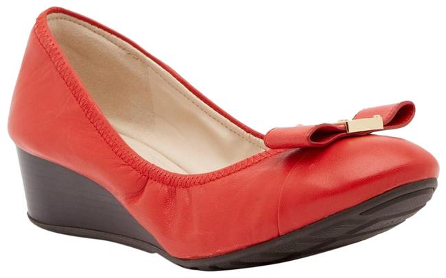 Item - Red Emory Bow Wedge Heels Pumps Size US 8 Narrow (Aa, N)
