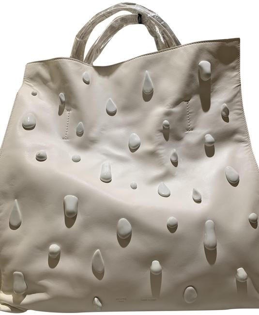 Item - Bag Off White Lambskin Leather Tote