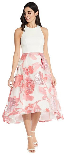 Item - Pink Multi Sleeveless High Low In Mid-length Formal Dress Size 6 (S)