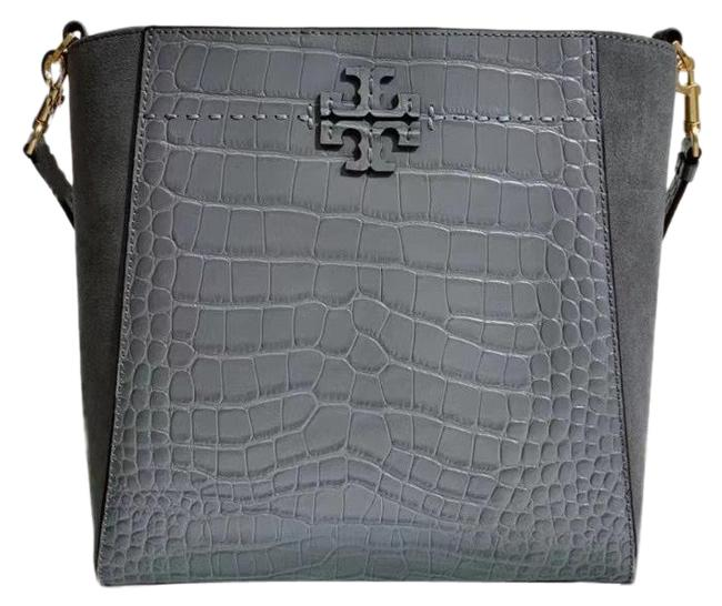 Item - Hobo Mcgraw Embossed Gray Leather Backpack